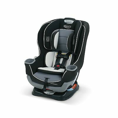 Graco Extend2Fit 1963212 Convertible Car Seat Adjustable Handle Polyester Gotham