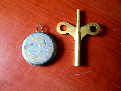 "Vintage  1-3/4"" Seth Thomas Pendulum With Key for Mantle Clock (516M)"