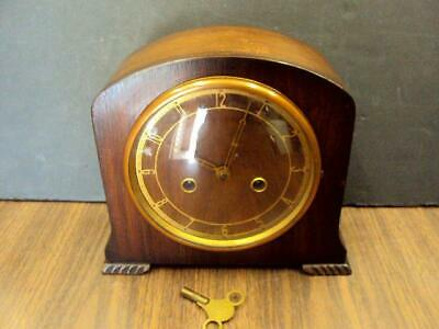 Vintage DECO Mantle Striking Clock-Smiths Enfield-Great Britain-Working