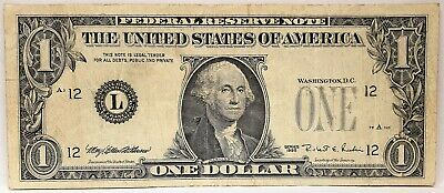 United States 1985  1 Dollar. Collector's Misprint Note. Missing Seals & Serials