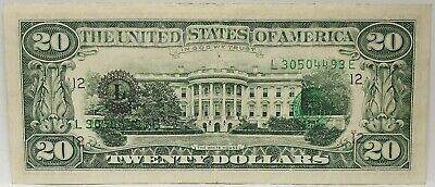 United States 1990 .20 Dollars .Collector's Misprint .Serials & Seal On The Back