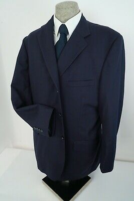 Tom James FINE Bespoke Wool~Mens~Blazer Sport Coat~Navy CLASSIC 2 BUTTON~48L 46L