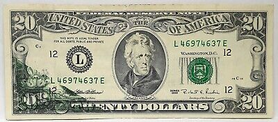United States 1995 . 20 Dollars . Collector's Misprint Note . Wet Ink Transfer