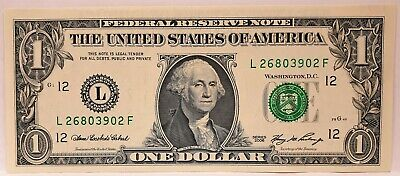 United States 2006. 1 Dollar . Collector's Misprint Note ..Wrong Print On Back