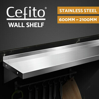 Cefito Commercial Wall Shelf Kitchen Shelves Stainless Steel Rack 600mm-2100mm