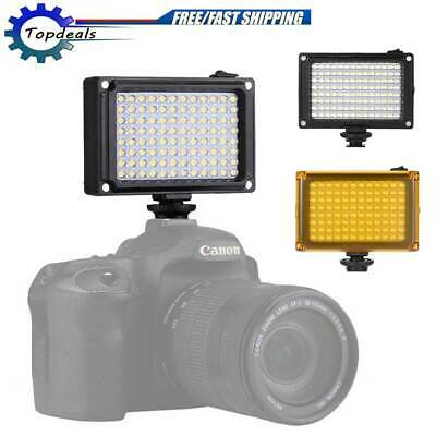 96 LED Video Light Lamp Panel Dimmable for Canon Nikon DSLR Camera Camcorder