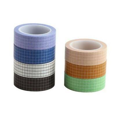 Grid Washi Tape DIY Planner Tape Adhesive Decorative Stationery Tapes