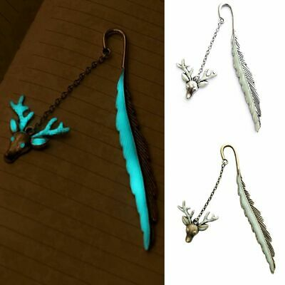 Deer Head Feather Luminous Glow In The Dark Stationery Read Maker Bookmark Label