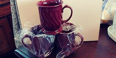 NEW Turnbury Dinex 3000 Cranberry Insulated Cup Mug Melamine/Plastic ALL ARE NEW