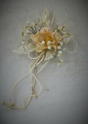 Beautiful Large French Antique Wax Flower Corsage Circa 1920 Wonderful Condition