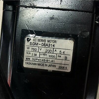 Used Yaskawa servo motor SGM-08A314 good test, fast delivery