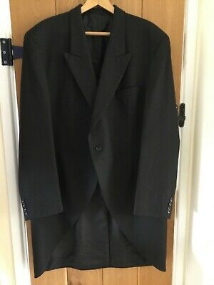 "MOSS BROS 46"" Chest 42 "" Waist Black Formal/wedding/Morning Suit (not ex-hire)"