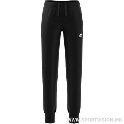 Adidas Junior Girls Tracksuit Bottoms Only Black Fitted Size 7-8 Years *REF109