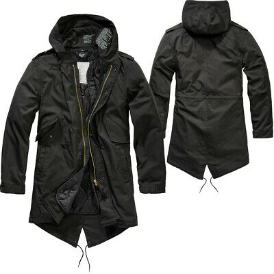 m51 Shell Fishtail Parka Giacca con fodera NERO Military Army Outdoor U.S