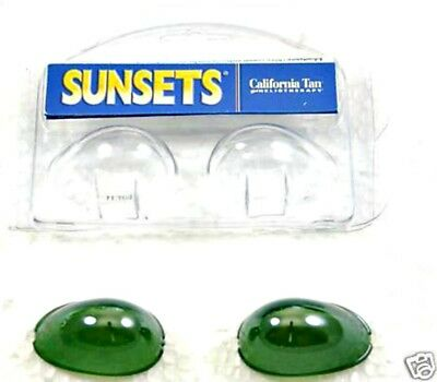 Tanning Bed Eyewear SUNSETS Goggle eye protection GREEN