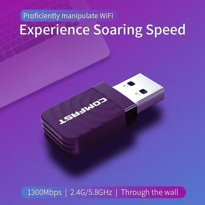 COMFAST USB Wireless Network Card 1300Mbps WiFi Dongle Adapter 802.11 b/g/n UK