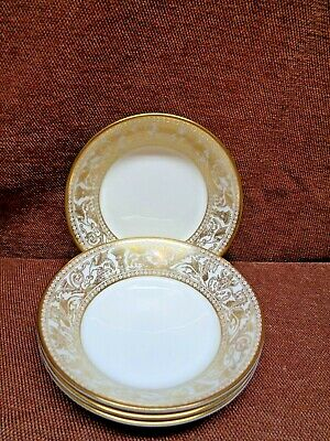 Wedgwood Gold Florentine 4 Of The 5 Inch Sauce Bowls W 4219