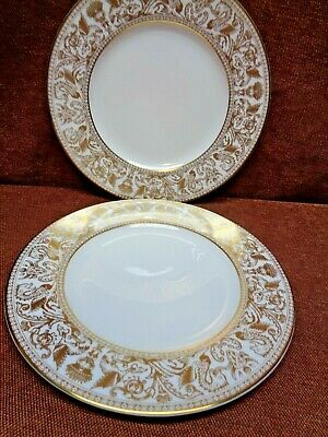 Wedgwood Gold Florentine 2 Of The 9 Inch Lunch Plates W 4219