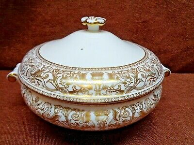 Wedgwood Gold Florentine A Covered Serving Bowl  W 4219
