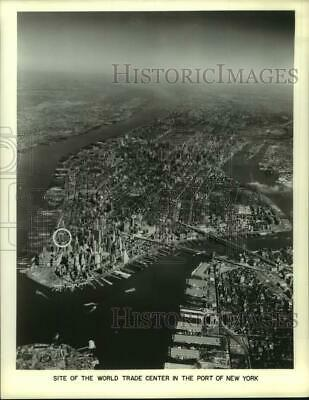 1964 Press Photo Aerial View of New York City and Trade Center - hcx37773