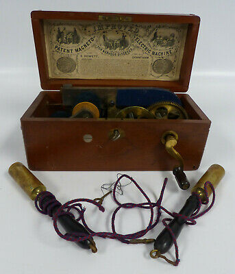 Antique Boxed Improved Magneto Electric Machine For Nervous Diseases