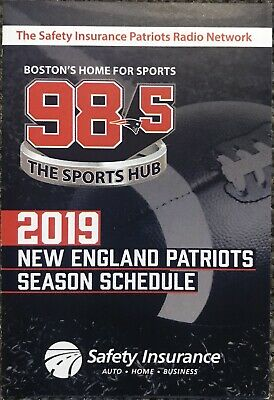 2019 New England Patriots NFL Schedule 🏈 COOL PRO FOOTBALL SKED 🏈