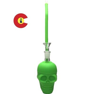 Mini Silicone Bong Detachable Unbreakable Skull Cup Water Pipe FREE US SHIPPING