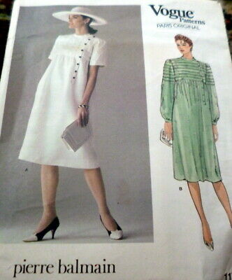 *LOVELY VTG 1970s DRESS VOGUE PARIS BALMAIN Sewing Pattern 10/32.5 FF