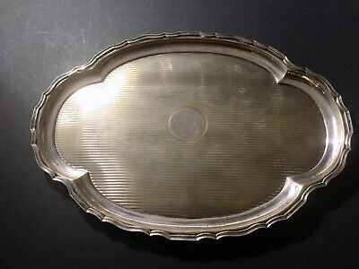 306 Grams Antique Sterling Silver Platter Tray Hallmarked