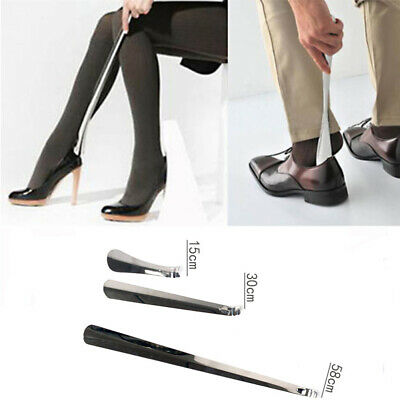 1pc Professional Metal Long Handle Shoe Horn Lifter Shoehorn Stainless