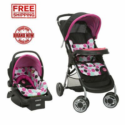 Travel System for Girls Lightweight Infant Car Seat Set Newborn Stroller Combo