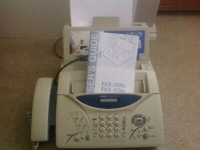 brother fax machine copier 1020e  Manual included.