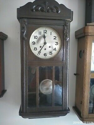 Antique Wall Clock Westminster Chime  1920*FMS.*Friedrich Mauthe