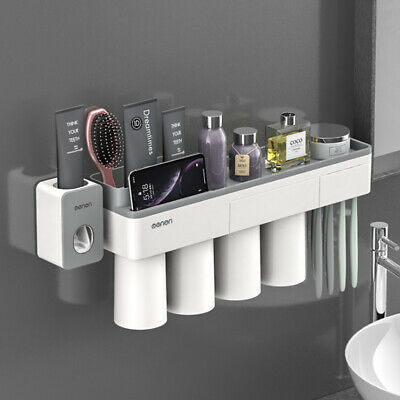 Toothbrush Suction Holder Home Bathroom Wall Mount Stand Rack Organizer Storage