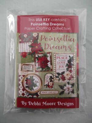 Debbi Moore Designs Poinsettia Dreams USB KEY
