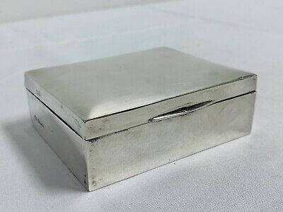 Antique English Sterling Silver Cedar-Lined Box