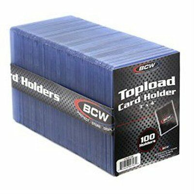1 Case of 1000 BCW Brand 3 x 4 Topload Standard Economy Card Holders 10/100 ct.