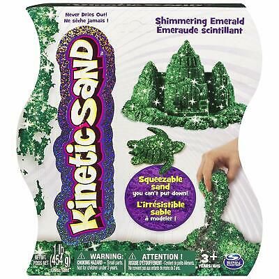 Kinetic Sand, 1Lb Shimmering Emerald Green Magic Sand for Ages 3 & Up New