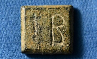Ancient Roman / Byzantine 12 Scripula weight. 4-6 Century. AD. with I Cross.