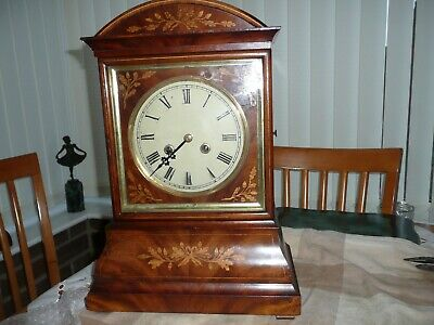 Early, German ? Double Fusee Bracket Clock, Wooden Plates, Beautiful Inlaid Case