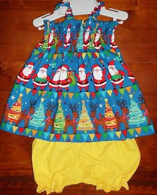 Sz 1 $13 (2 Piece) Christmas Clearance Sale Cotton Pants/Bloomers & Shirred Top