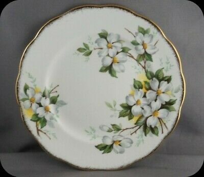Royal Albert White Dogwood Bread and Butter Plate (4 Available)