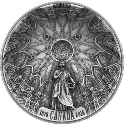 Canada - 2016 'Library of Parliament' Concave Antique $25 Silver Coin (#0386)