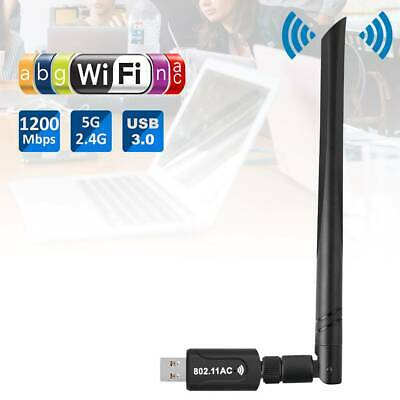 ADATTATORE USB PC WIFI 1200 MBPS ANTENNA CHIAVETTA WIRELESS Internet WIFI IT