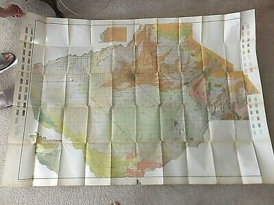 Large 1912 USGS Soil Survey Map. Fresno Sheet, California.  40 x 56 inches.