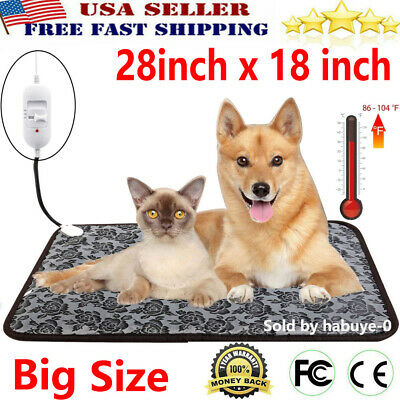 Large Electric Waterproof Pet Heated Warm Pad Puppy Dog Cats Bed Mat Heater Mats