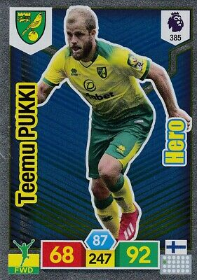 Panini Premier League 2019/20 Adrenalyn XL #385 Teemu Pukki (Norwich) HERO