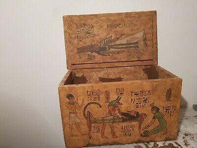 Rare Antique Ancient Egyptian masterpiece wood jewelry box king Khufu2589–2566BC