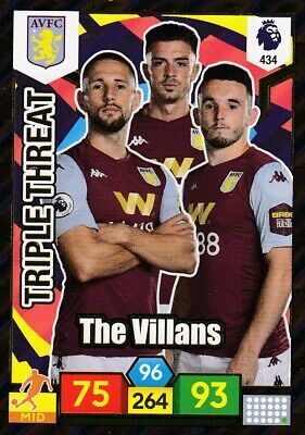 Panini Premier League 2019/20 Adrenalyn #434 Aston Villa TRIPLE THREAT