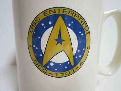 1993 STAR TREK USS Enterprise Pfaltzgraff Vintage Coffee Cup Mug Tea NCC-1701-A